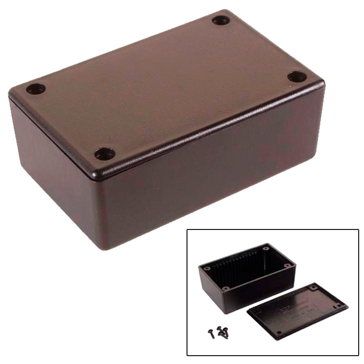Caja de plastico 85x55x30mm negra - Cajas de plastico ...