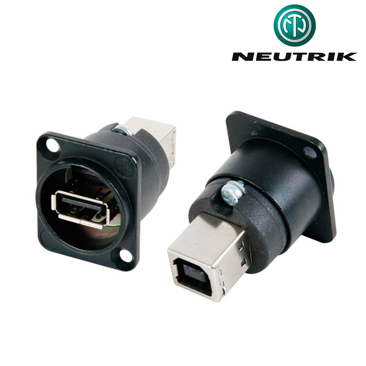Conector usb 2 0 a hembra chasis neutrik for Conector de red hembra