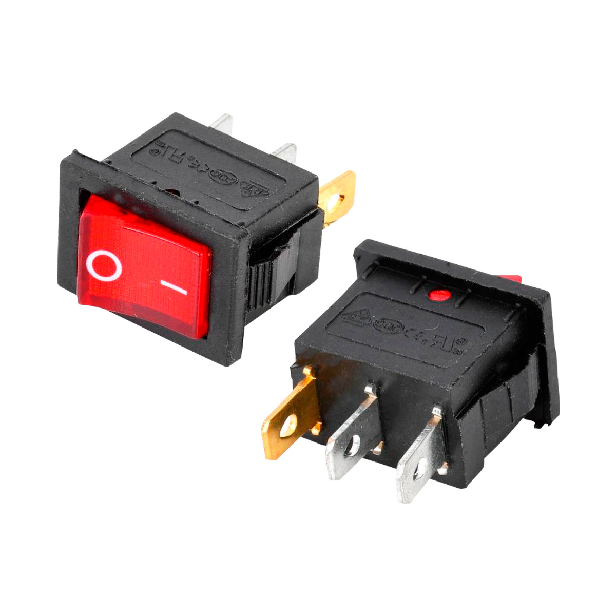 Interruptor basculante 6a 220v con luz color rojo - Pulsadores de luz ...