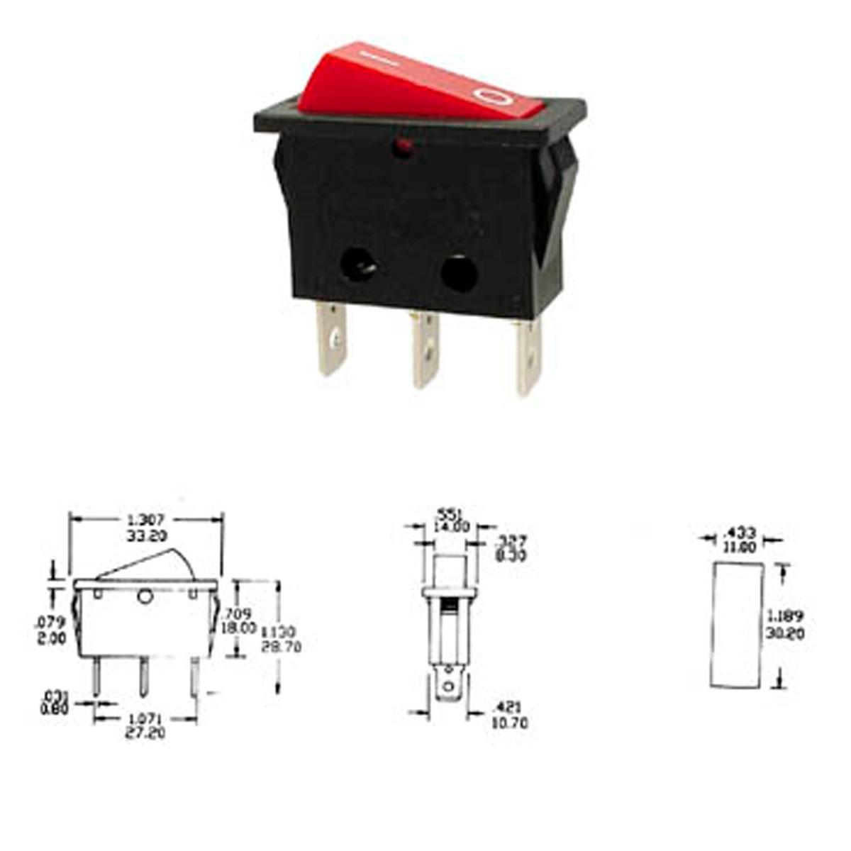 Interruptor basculante con luz rojo - Tipos de interruptores de luz ...