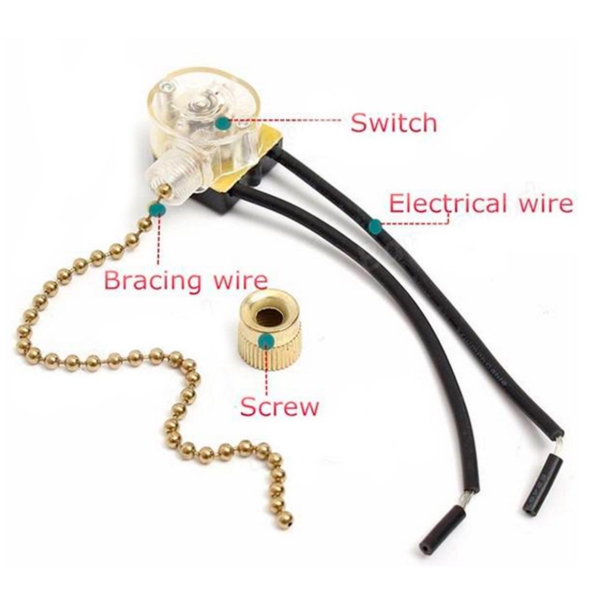Как сделать выключатель с веревочкой