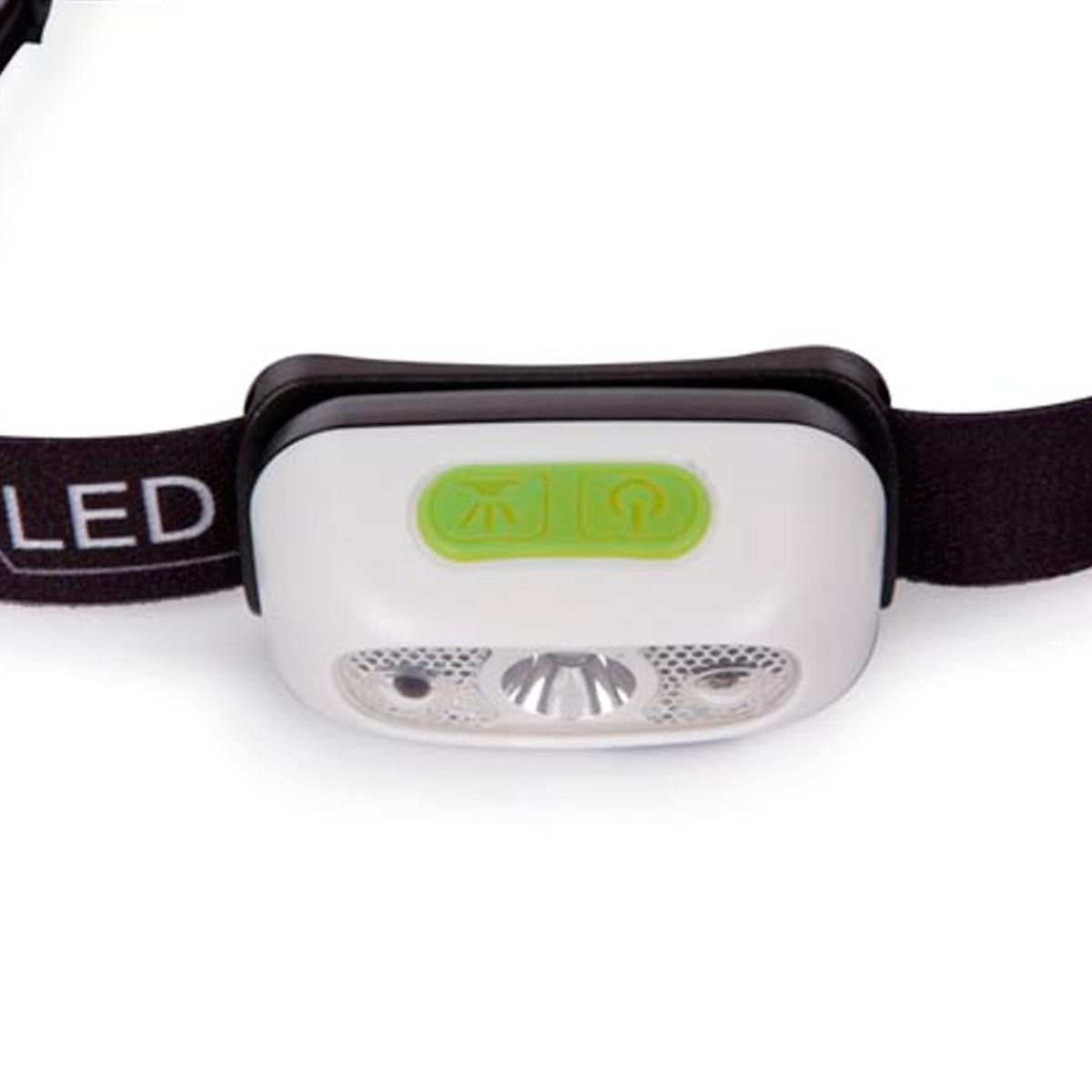 Linterna led frontal con sensor de apagado recargable - Linterna led recargable ...
