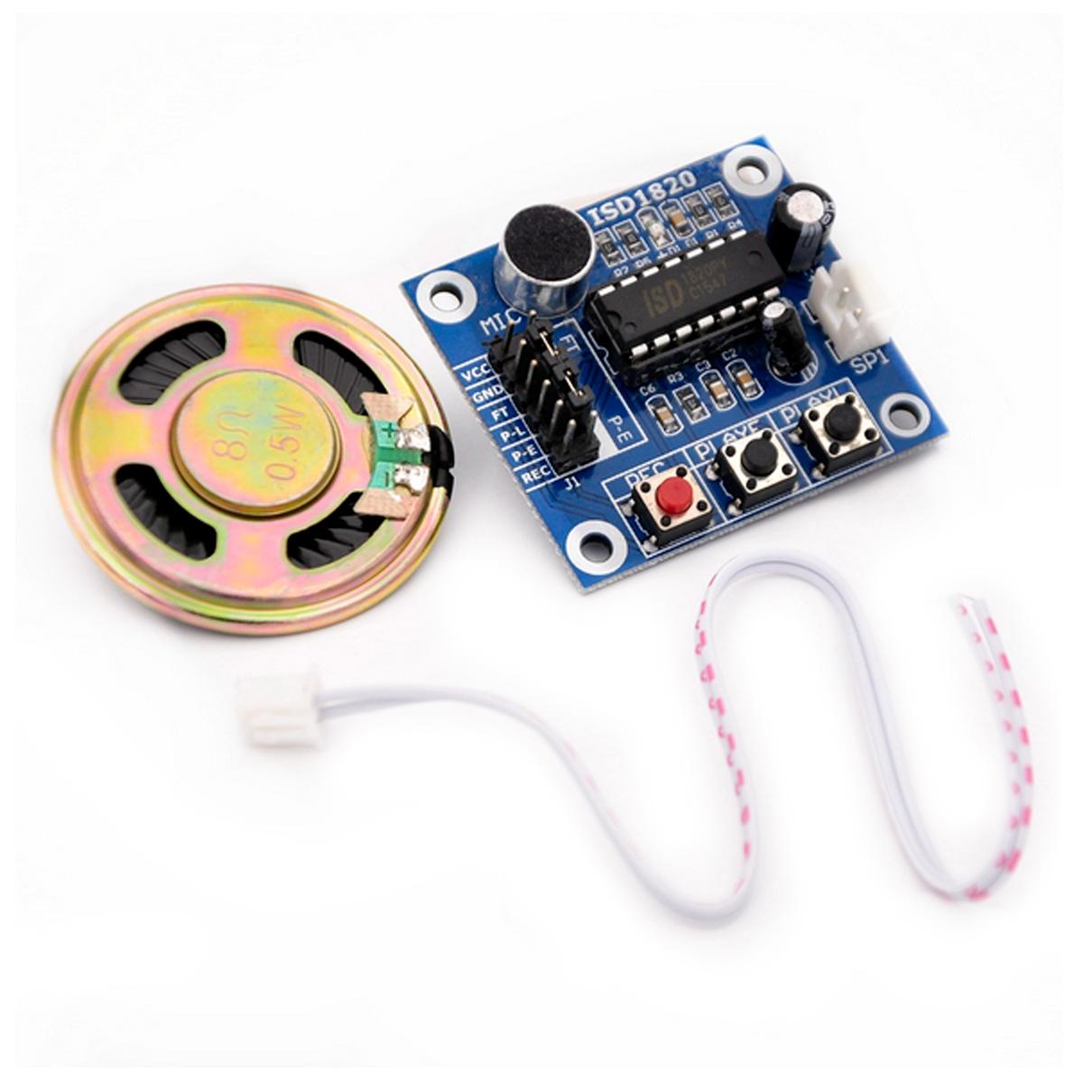 Módulo de grabación de voz ISD1820 Grabadora de Sonidos Con Altavoz