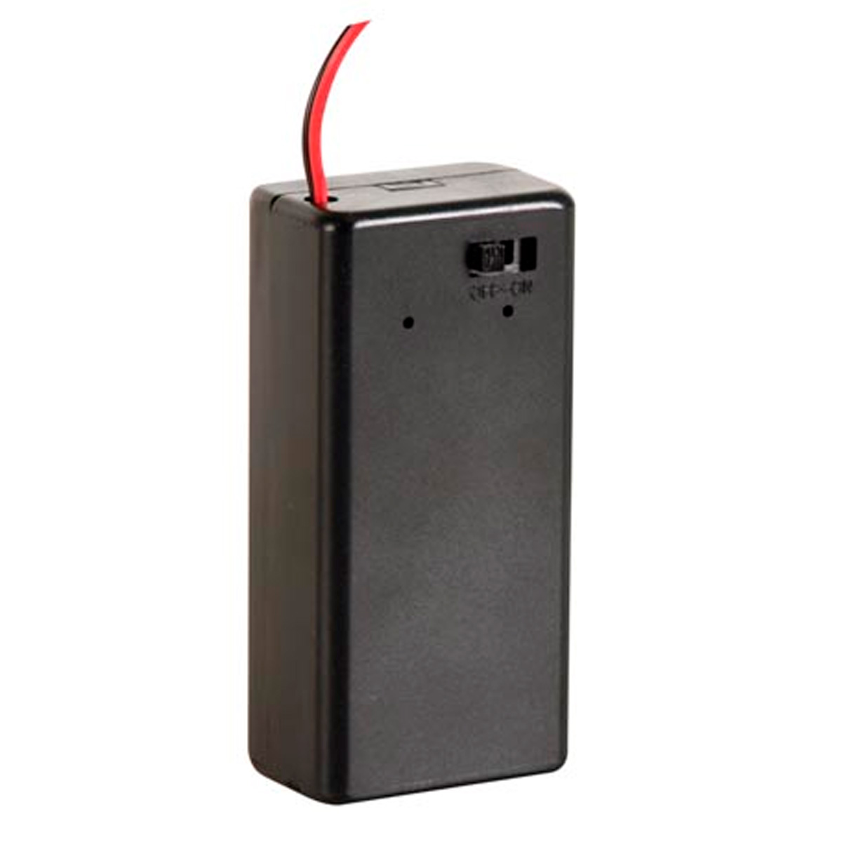 Porta pila 9v caja con interruptor for Porta batteria 9v