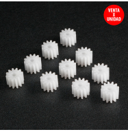 Engranaje de plastico Ø 7x5mm - blanco (Eje Ø: 3mm)