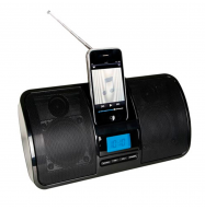 Altavoces Dock para iPhone/iPod con radio FM