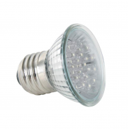 Bombilla LED blanco calido E27 230VCA (18 LEDs)