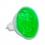 Bombilla LED verde MR16 12VAC (18 LEDs)