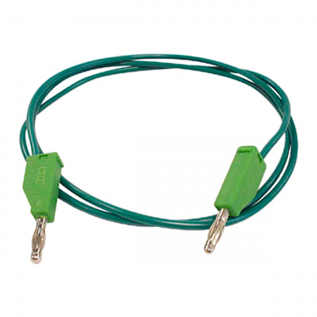Cable Banana 4mm macho / macho - verde