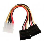 Cable SATA x2 / Molex macho - 0.15m
