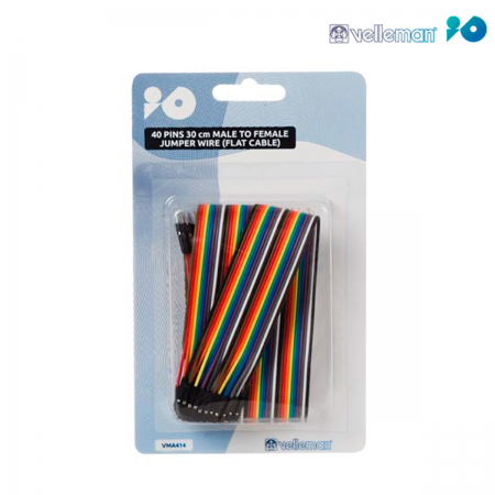 Cable DuPont arduino macho / hembra - 30cm (Pack 40 unid.)