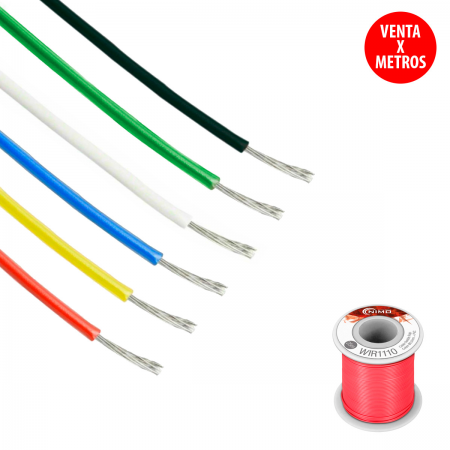 Cable flexible 0.20mm - rojo