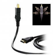 Cable HDMI macho / macho 1.3 giratorio - 2m