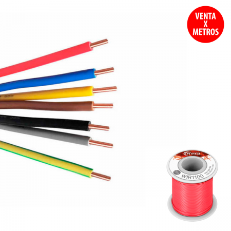 "Cable rigido 0.20mm - rojo ""protoboard"" (15315)"