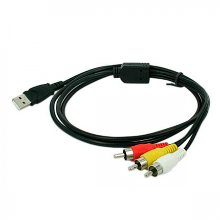 Cable USB 2.0 macho / 3x RCA macho - 1.50m
