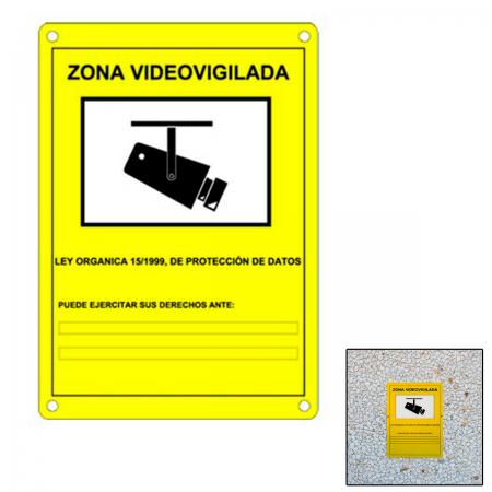 Cartel zona vigilancia homologada - Cartel zona videovigilada ...