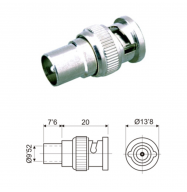 Conector BNC macho / TV macho