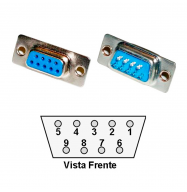 Conector DB9 hembra - soldable