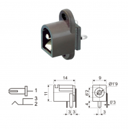 Conector DC 1.9mm - chasis (hembra)