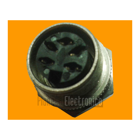 Conector DIN 5PIN 60º - hembra chasis a rosca