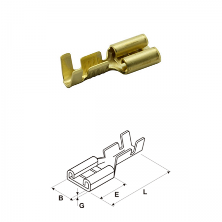 Conector faston 6.32mm hembra