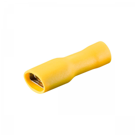 Conector faston 6.32mm hembra aislado - amarillo