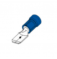 Conector faston 6.32mm macho preaislado azul