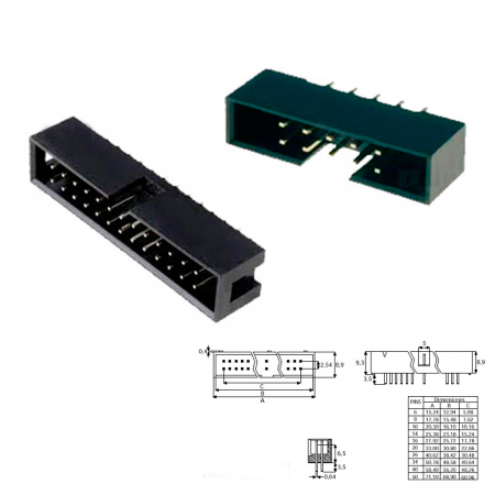 Conector IDC macho - 40 PIN (cable plano)