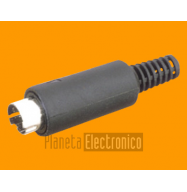 Conector Mini DIN 5PIN - macho aerea