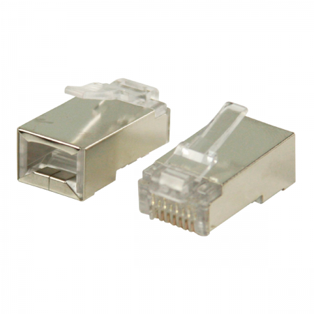 Conector RJ45 macho blindado (CAT5)