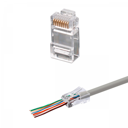 "Conector RJ45 macho (CAT6 ""EASY"")"