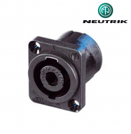 Conector Speakon 4 PIN macho chasis - Neutrik