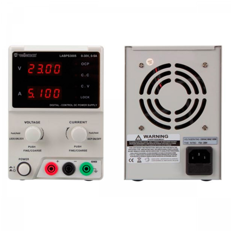 Fuente de alimentacion laboratorio 0-30V/5A Doble Display (eco)