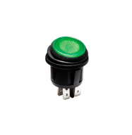 Interruptor basculante ON/OFF 12V - verde (estanco)