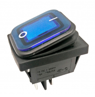 Interruptor basculante ON/OFF 250V 16A - azul (estanco)