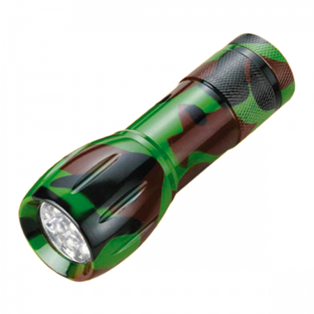 Linterna LED - color camuflaje (9 LEDs)