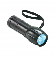 Linterna LED - color negro (9 LEDs)