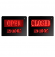 Panel LED Open/Closed con reloj