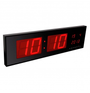 Reloj de pared 830x230x40mm - LEDs rojos