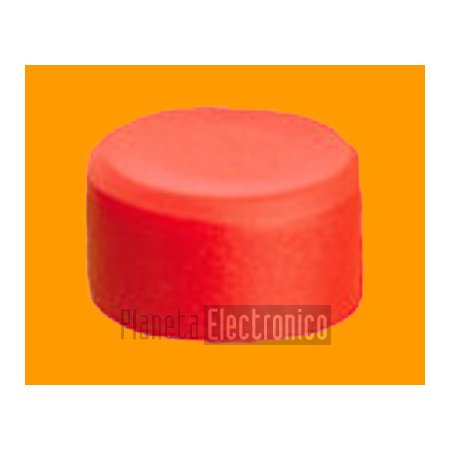 Tapon para pulsador 12x6mm - color rojo