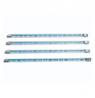 Tira de LED decorativa x4 - 12V - azul