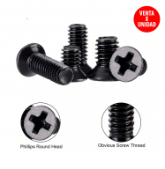 Tornillo Philips M3x4mm avellanado - negro