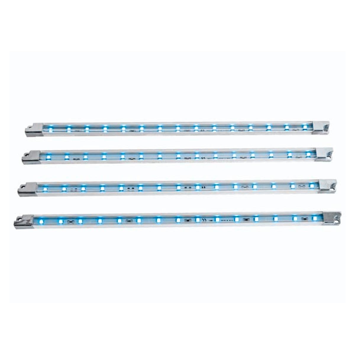 Tira de led decorativa x4 12v azul iluminaci n led - Iluminacion led decorativa ...