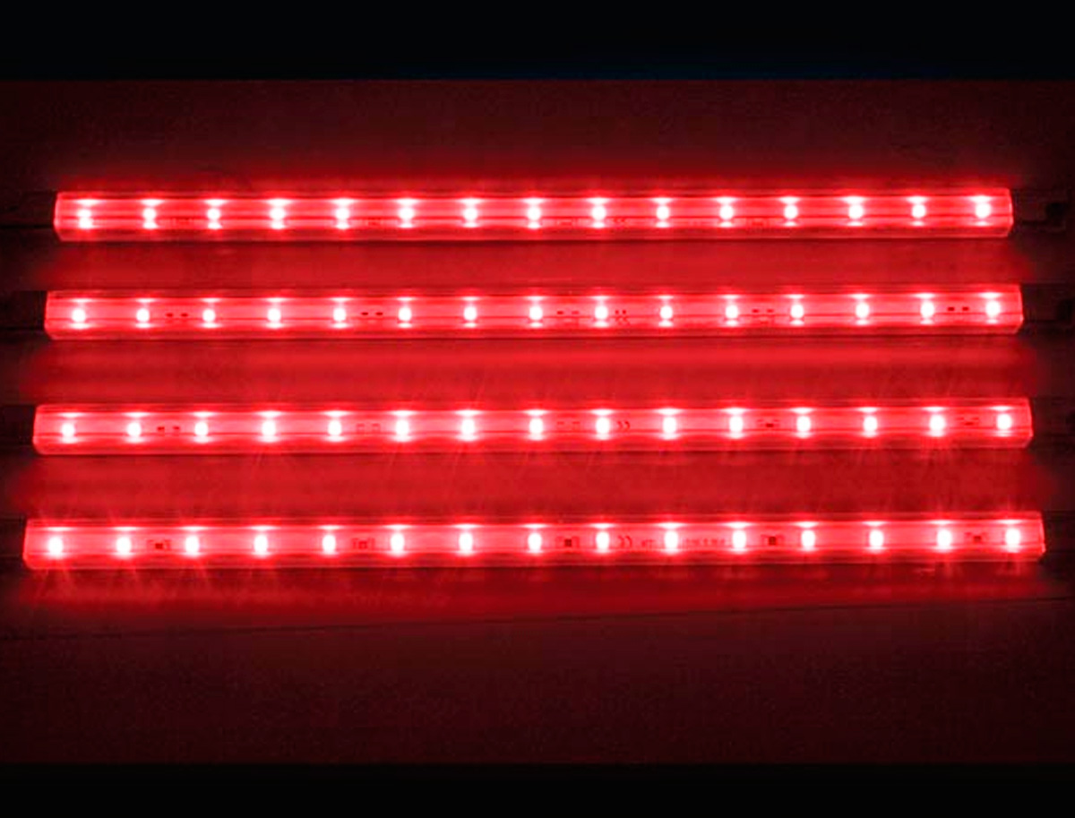 Tira de led decorativa x4 12v rojo - Iluminacion tiras led ...