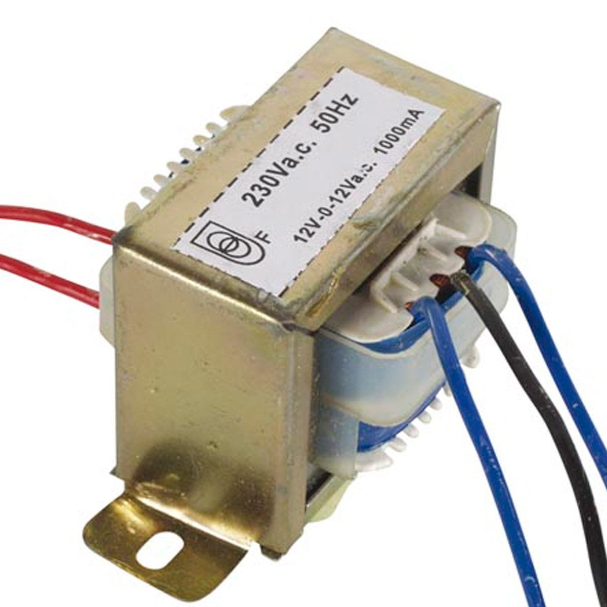 Transformador chasis abierto 12vx2 1000ma 24va for Transformador 12v a 220v