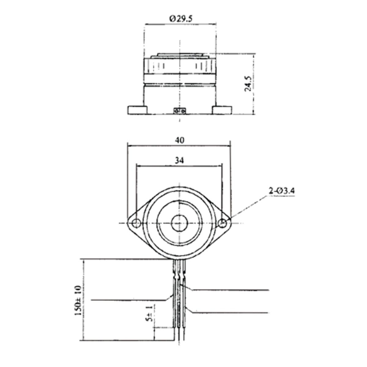 Circuito Zumbador Piezoelectrico : Zumbador piezoelectrico vdc intermitente gt sensores